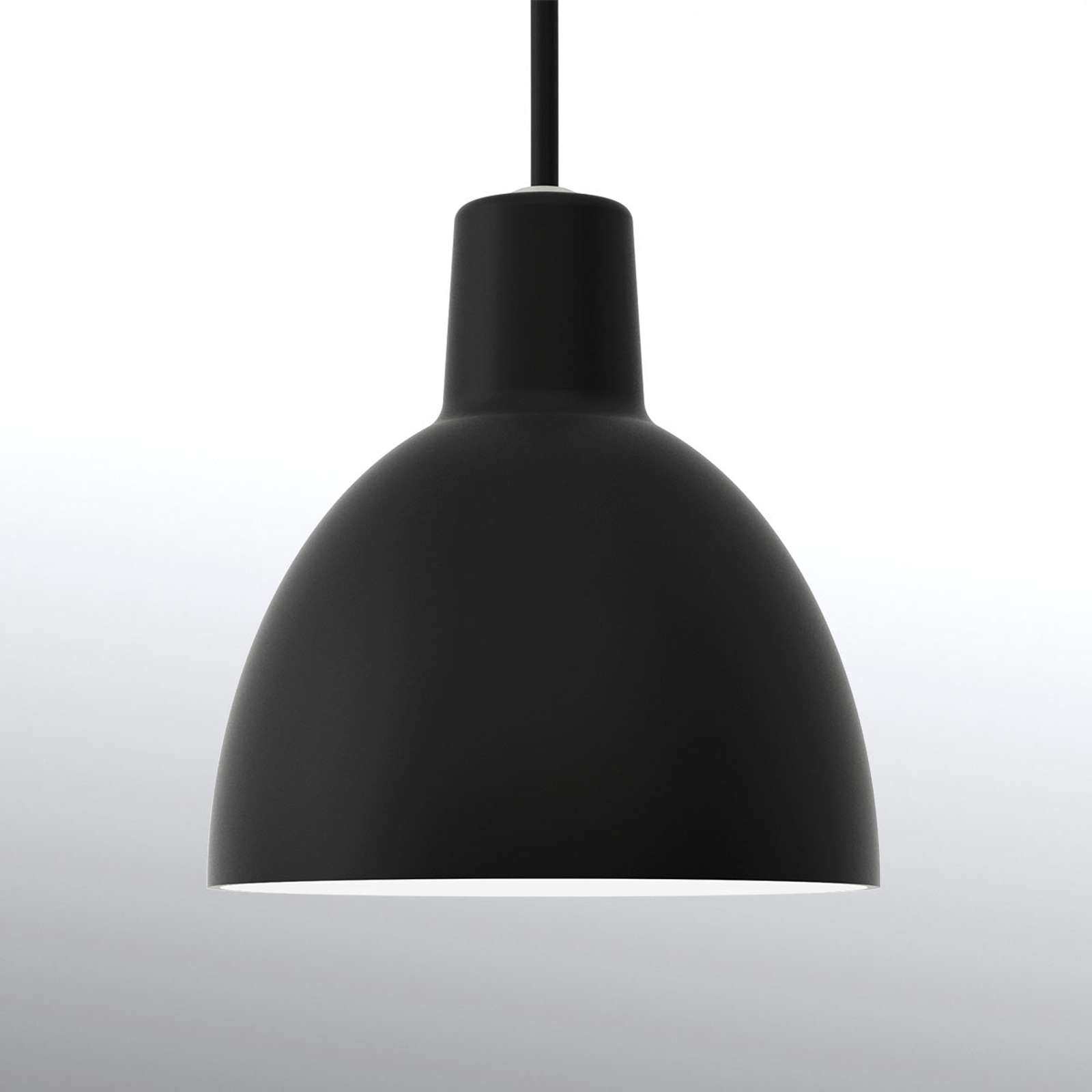 Louis Poulsen Toldbod 120, lampa wisząca, czarna
