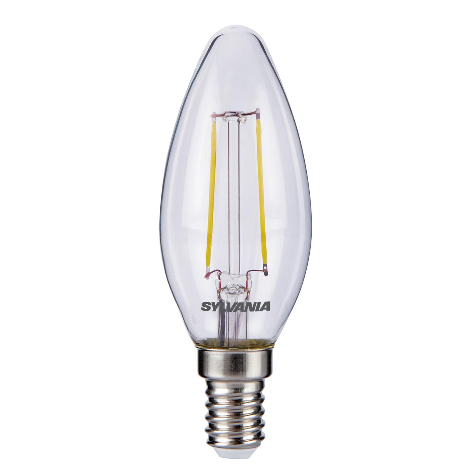ToLEDo LED-kertepære E14 2,5W 827, klar
