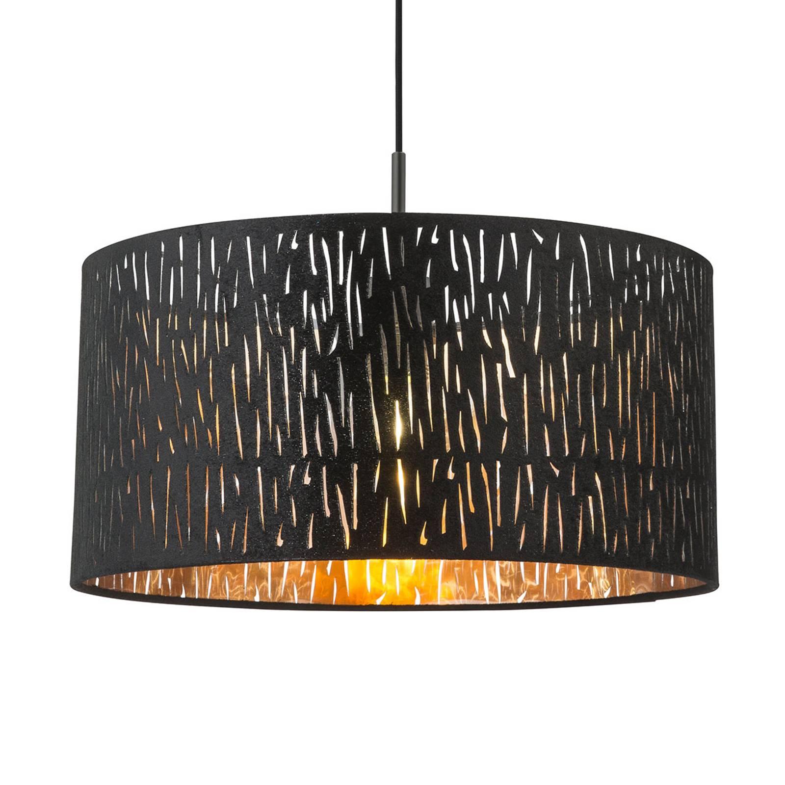 Tuxon – lampa wisząca z pokrytym aksamitem kloszem