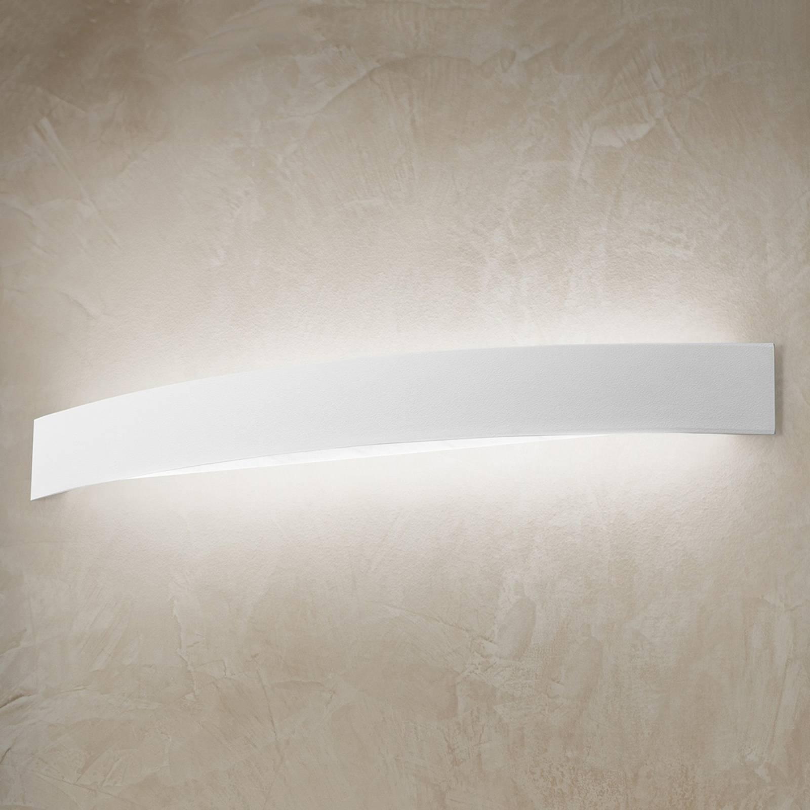 Gebogene LED-Wandleuchte Curve in Weiß