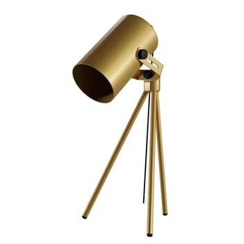 Lampe à poser La Tuba 450 trépied et spot, doré