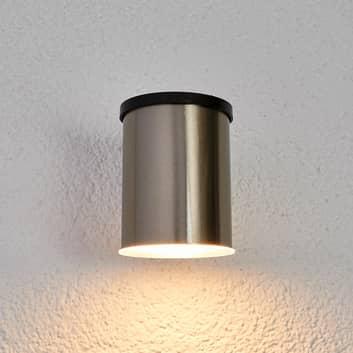 LED-Solar-Außenwandleuchte Tyson, rund, klar
