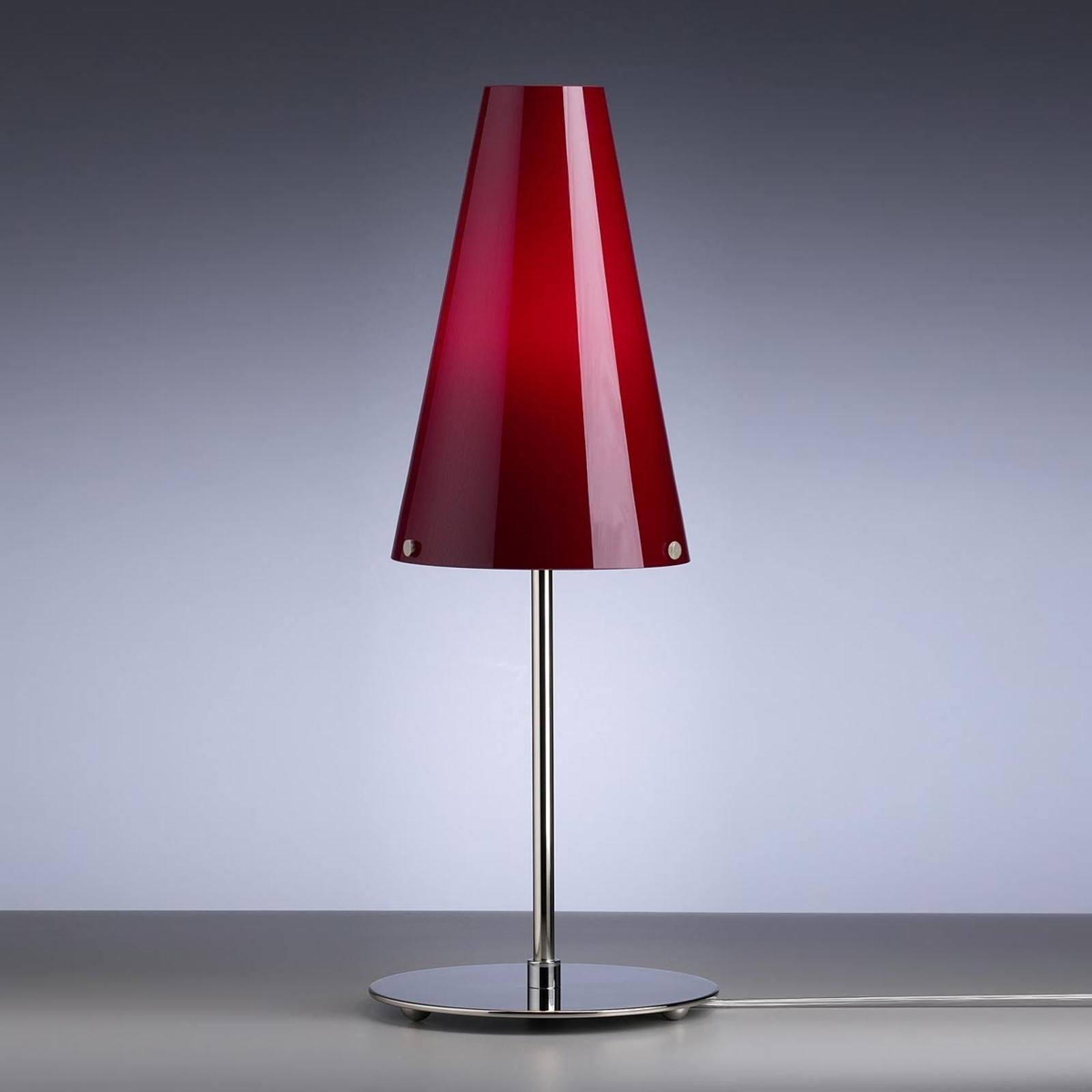 Tafellamp van Walter Schnepel, rood