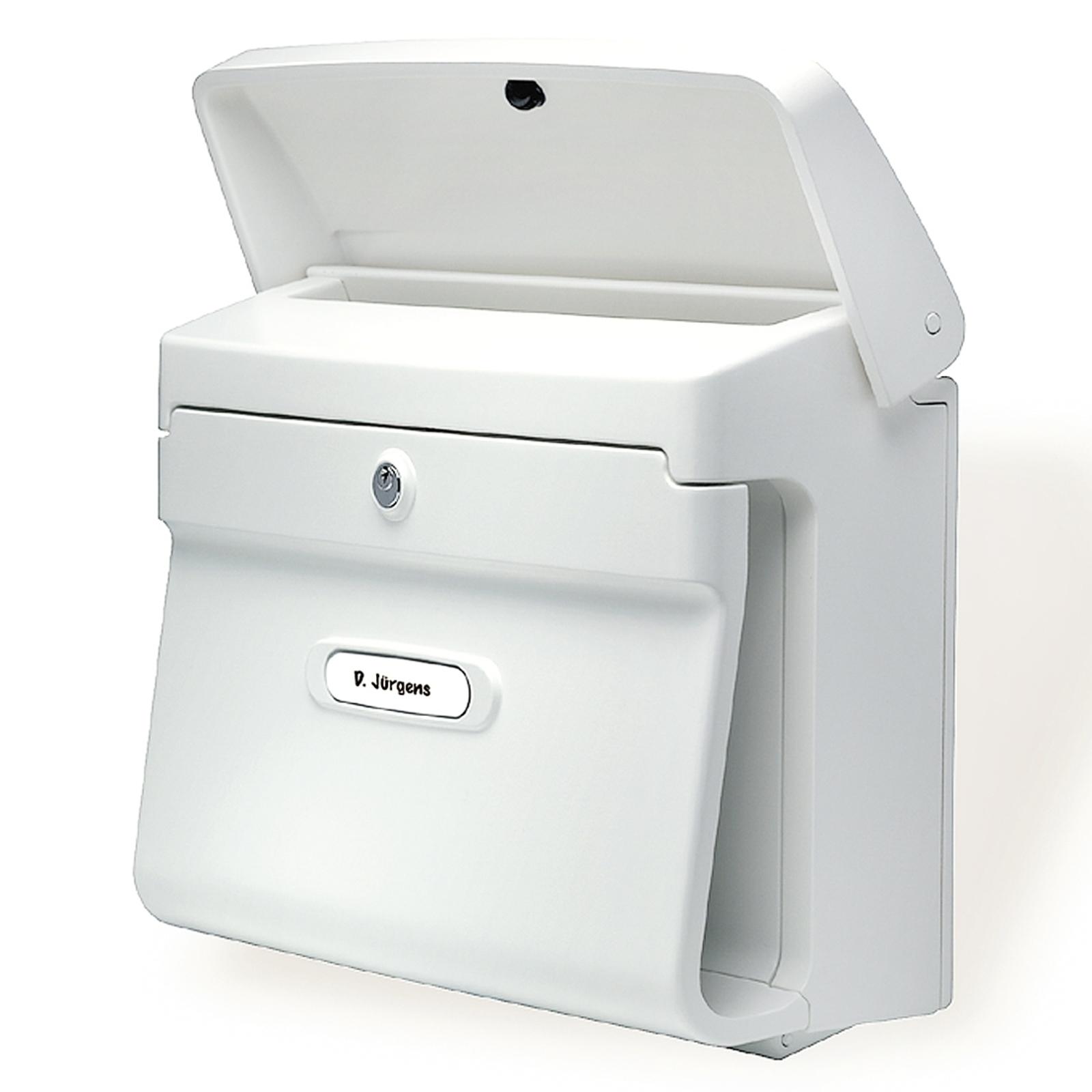 Poštovní schránka Bremen z plastu, bílá