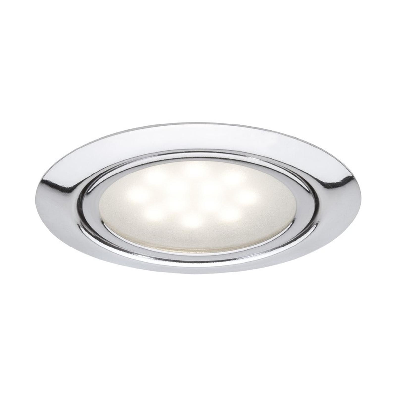 Spot LED Skinne set da 3, cromo