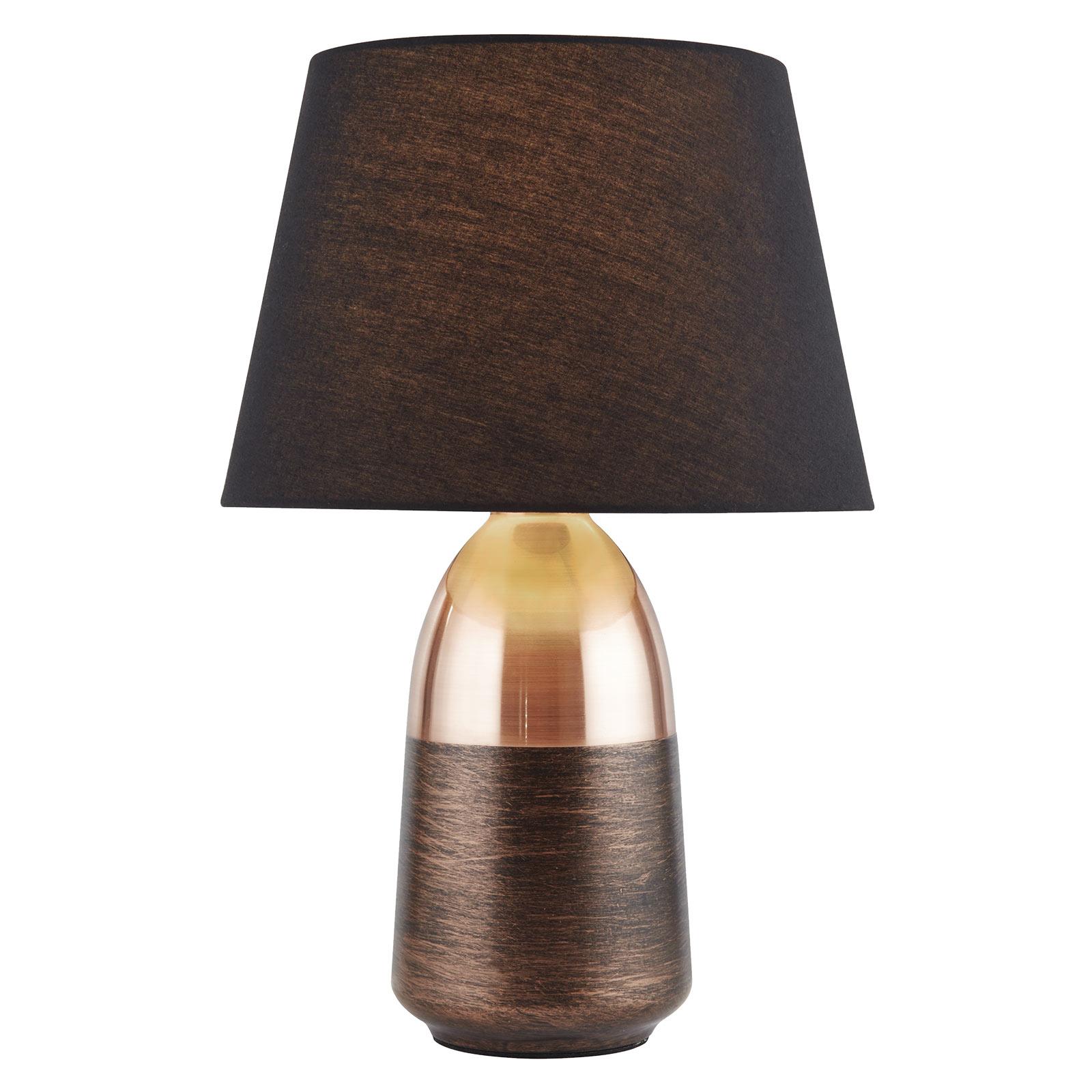 Tafellamp EU700341 in zwart en koper