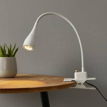 Lampe LED souple à pince Mento blanche
