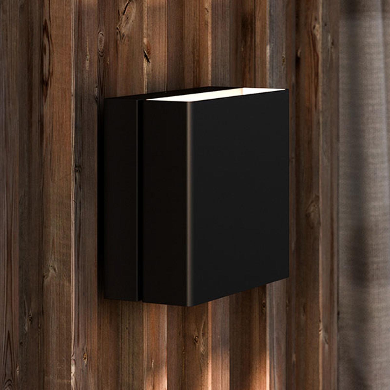 Turn udendørs LED-væglampe, dæmpbar, sort