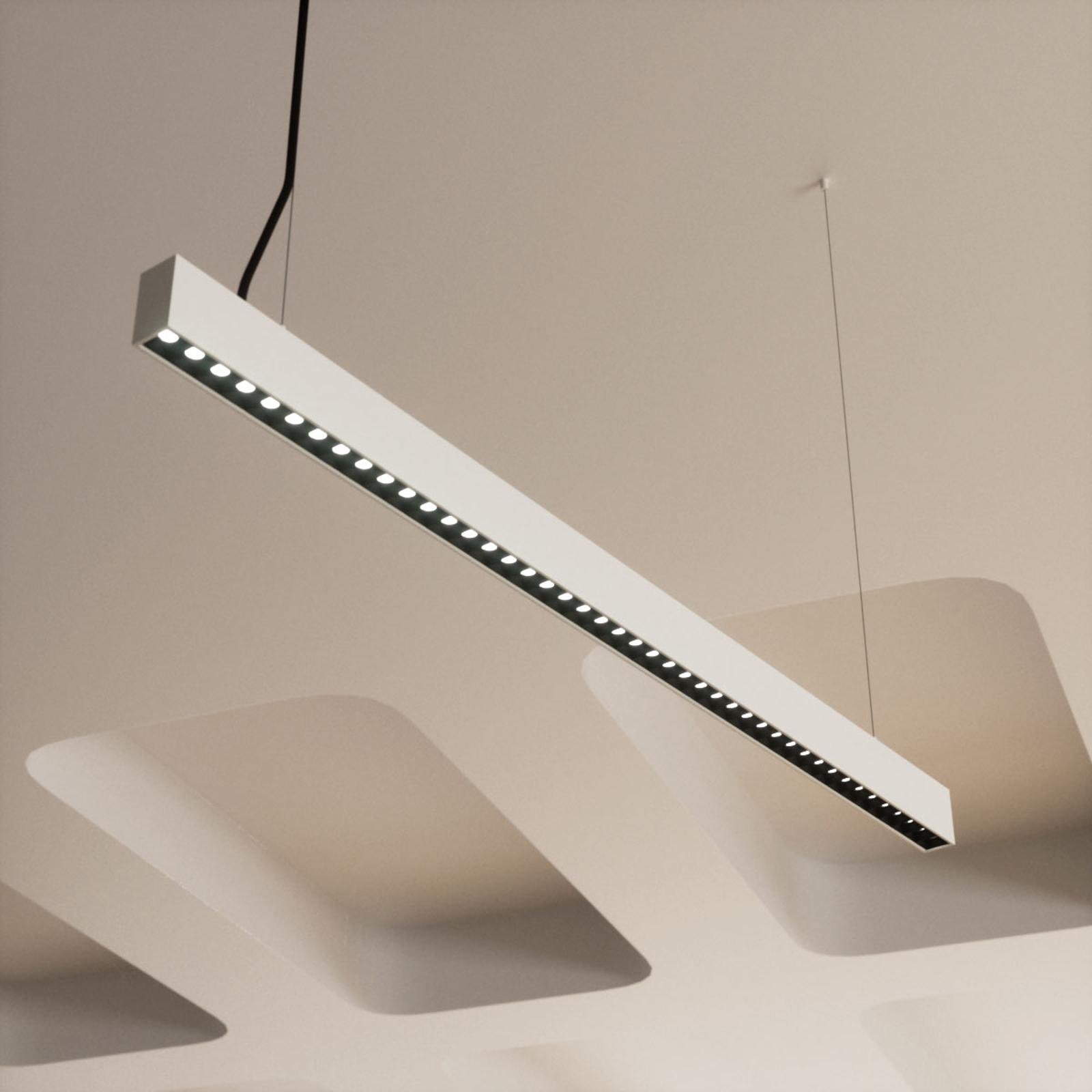 Ściemniana biurowa lampa wisząca LED Ernestine