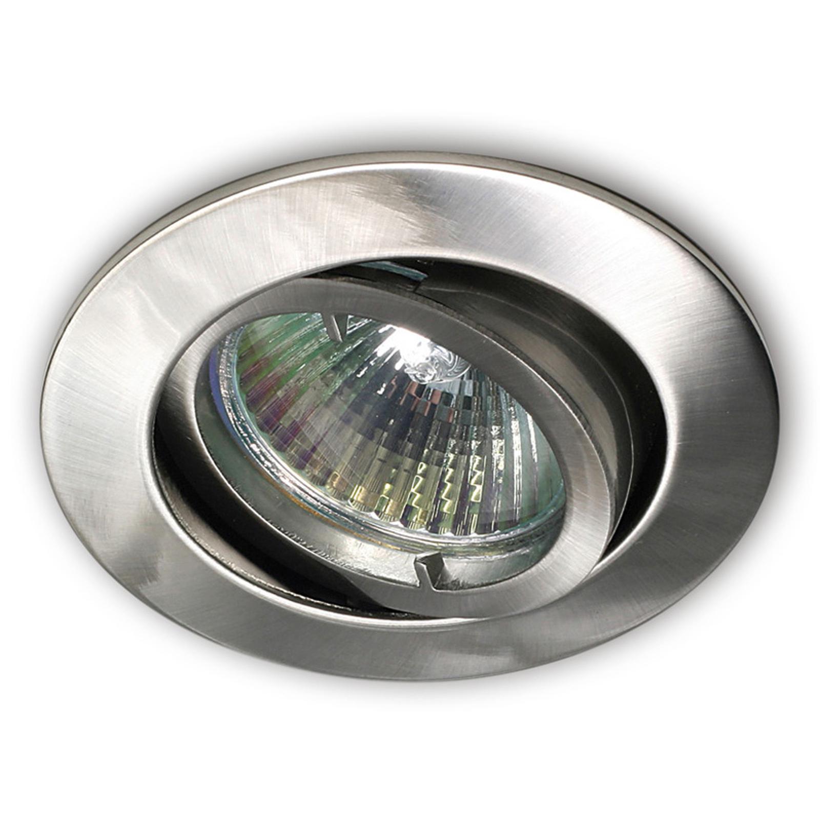 Innfelt spotlampe Snok NV børstet nikkel