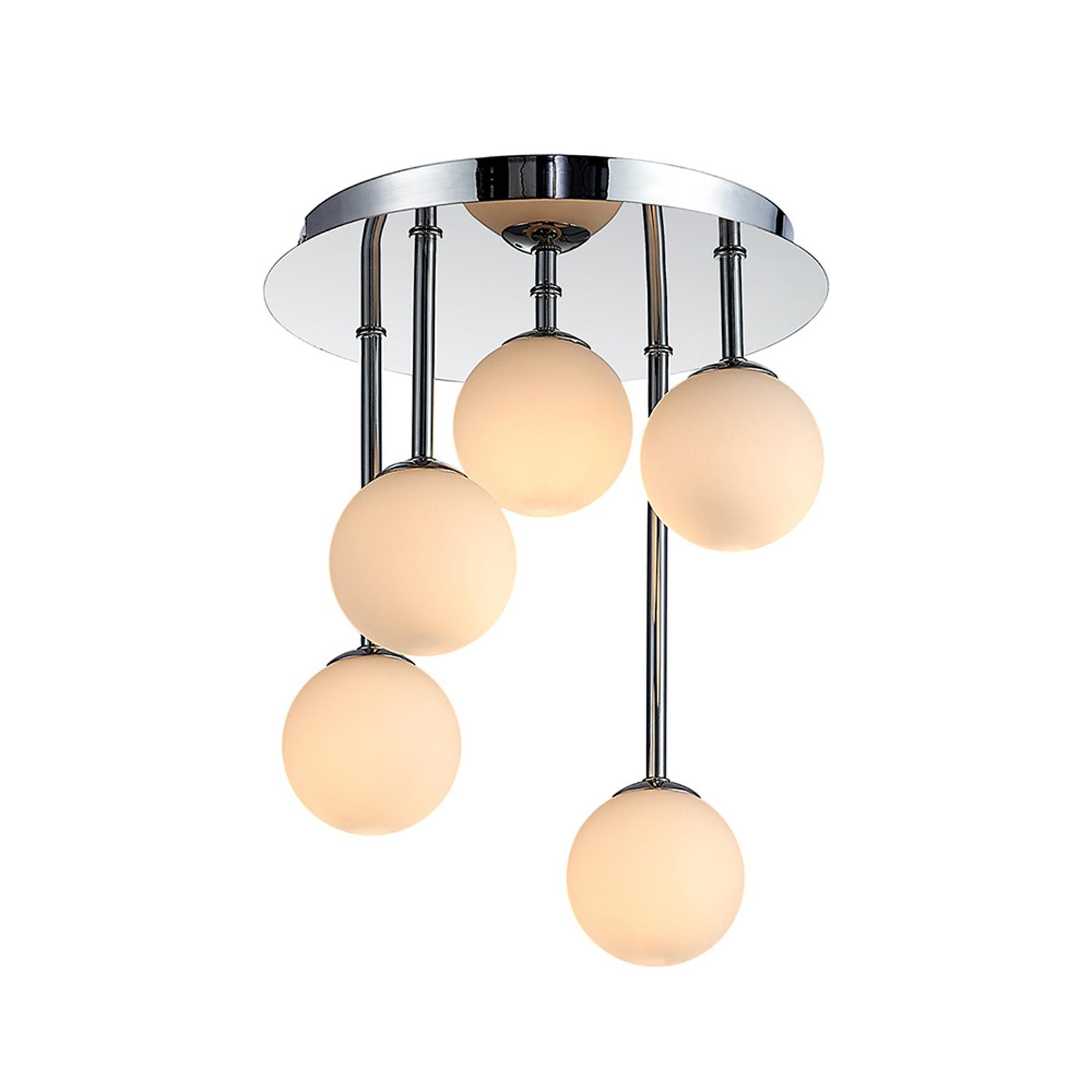 Lindby Chrissy plafondlamp, 5-lamps, 25 cm
