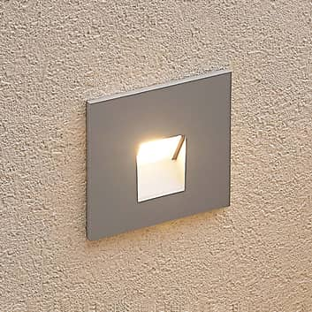 Arcchio Vexi LED-inbyggnadslampa, kantig, silver