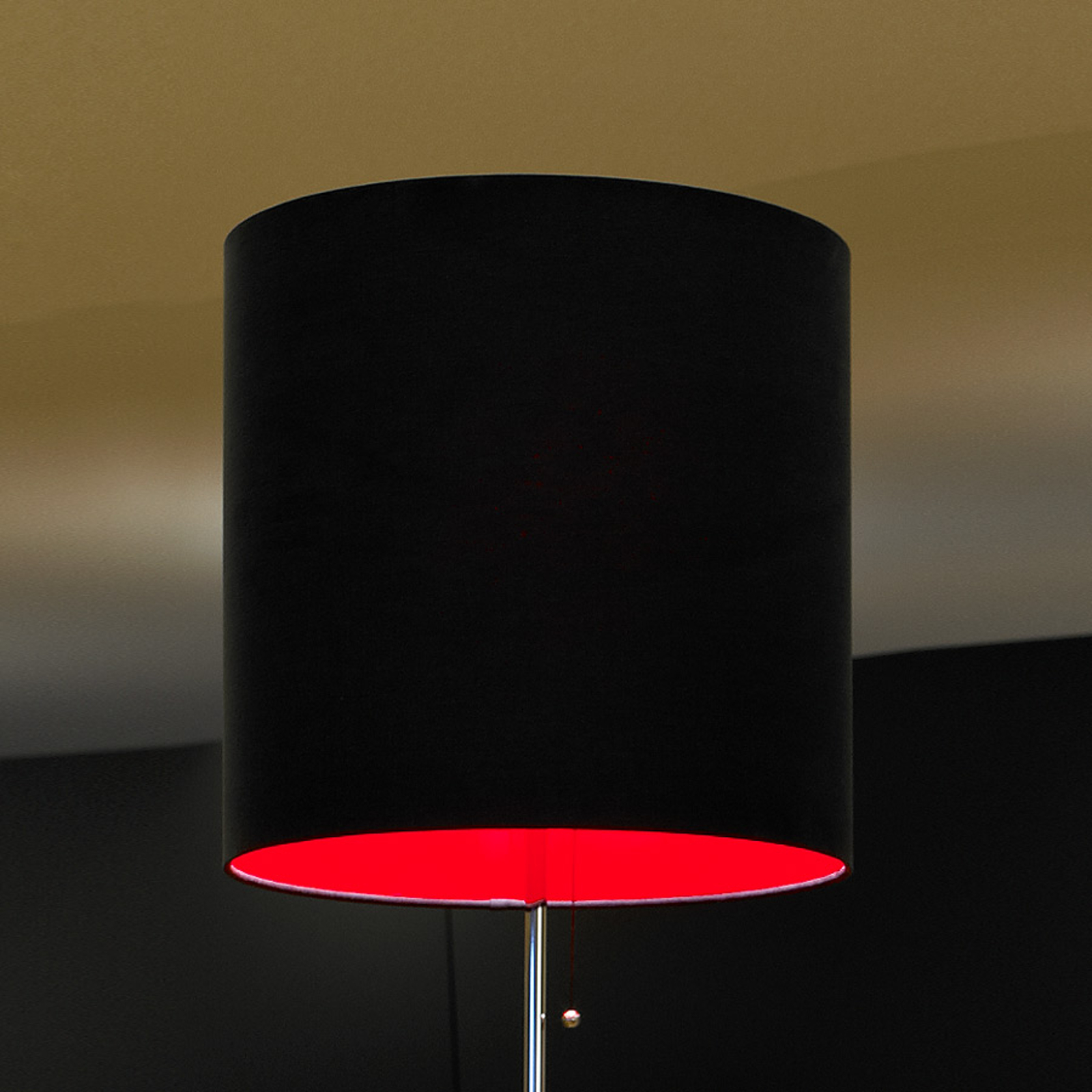 Lampadaire Schnepel anthracite-rouge