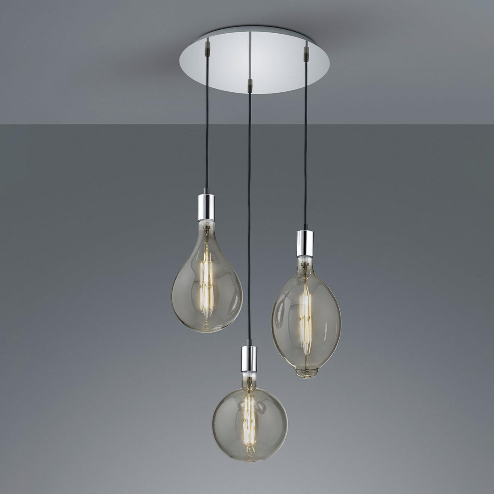 Lampa wisząca LED Ginster 3-punktowa chrom okrągła