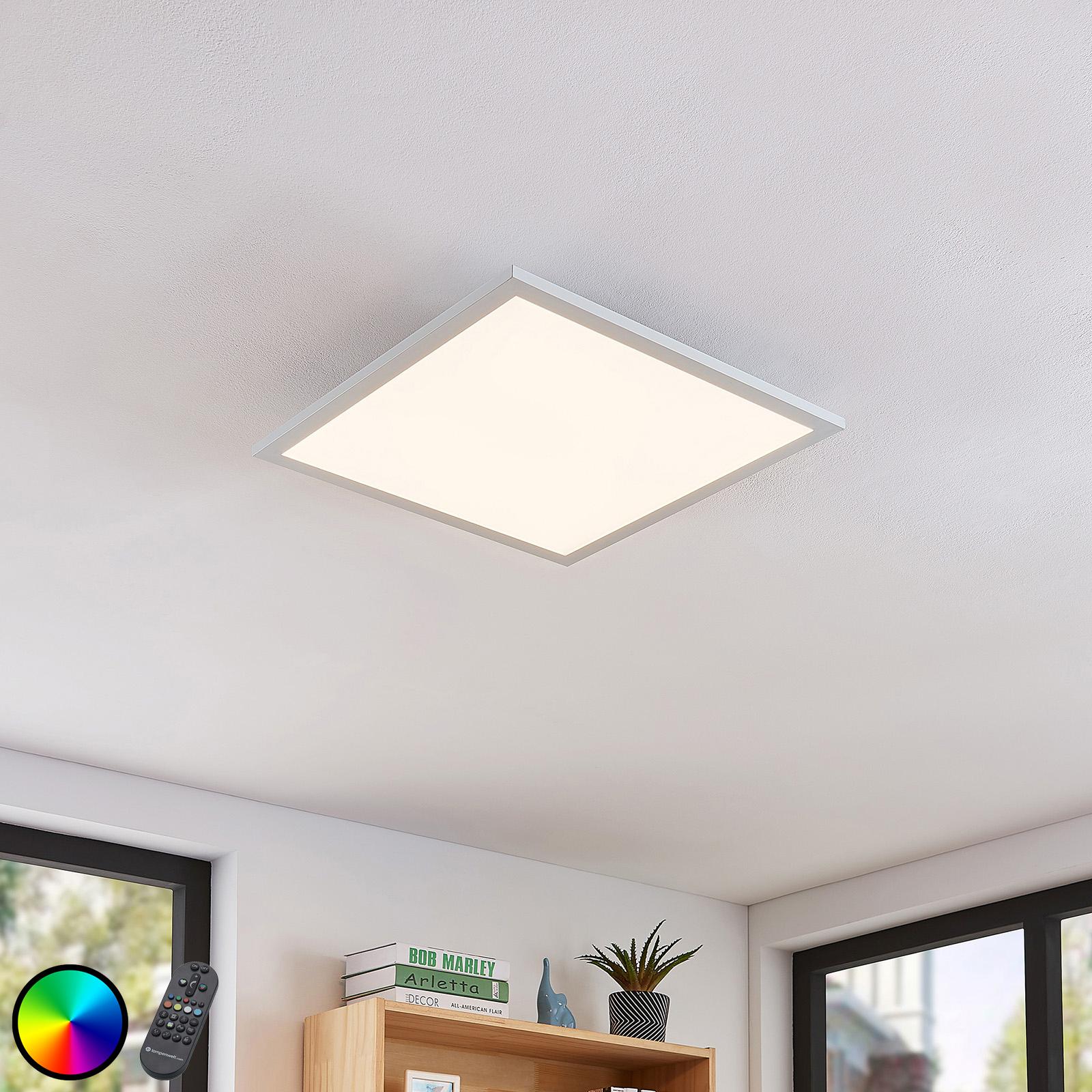 LED-Deckenleuchte Milian mit Fernbedienung 45x45cm