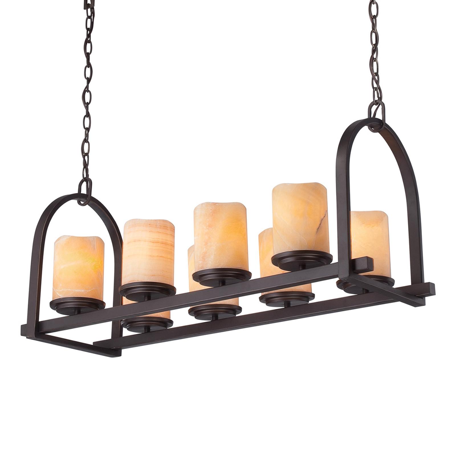 Large suspension Aldora à 8 lampes