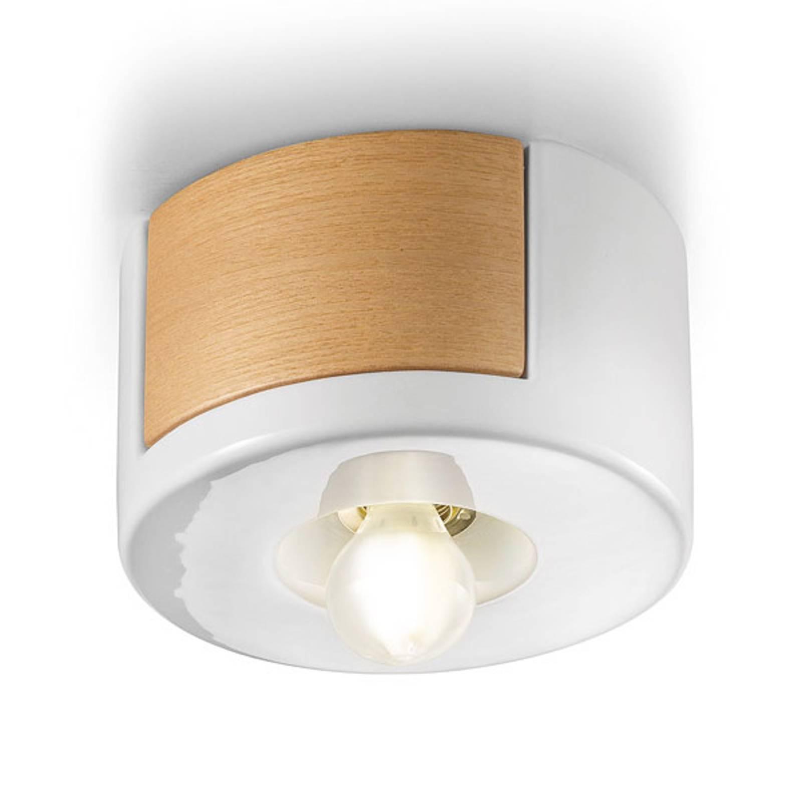 Lampa sufitowa C1791, styl skandynawski, biała