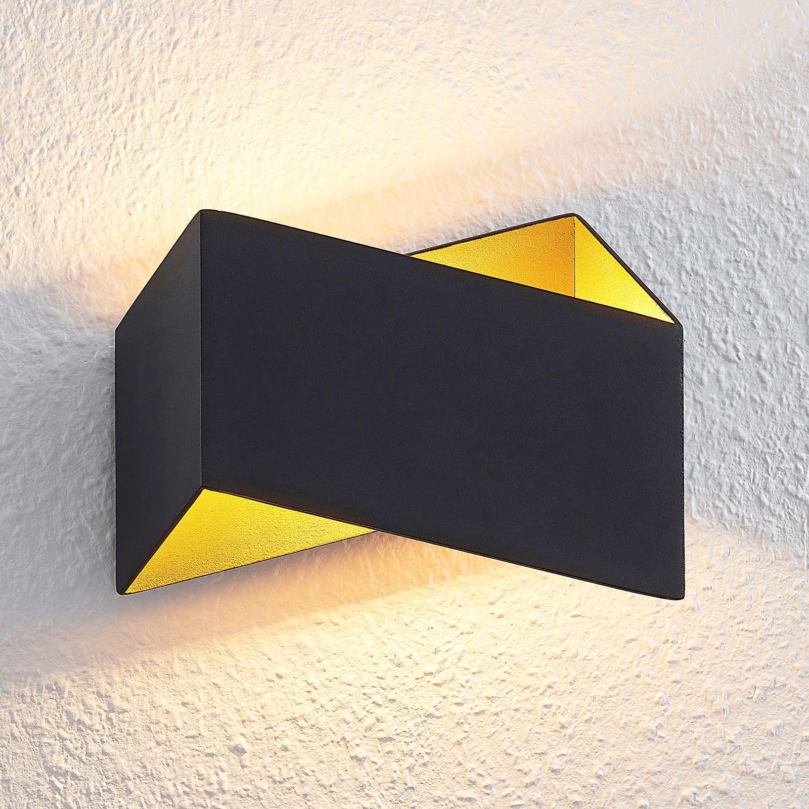 Arcchio Assona kinkiet LED, czarno-złoty