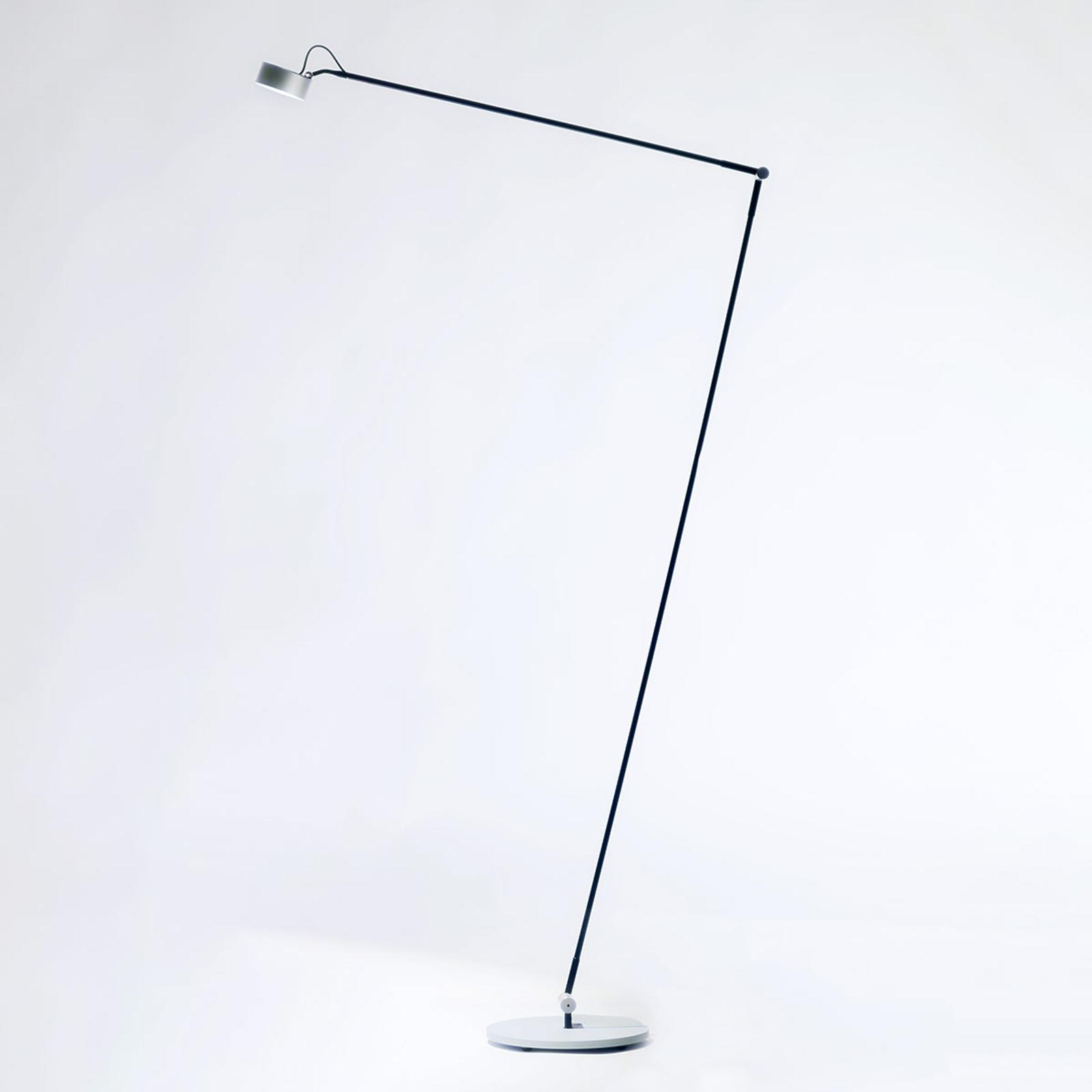 LED-gulvlampe Basica 930 H med arm, sølv