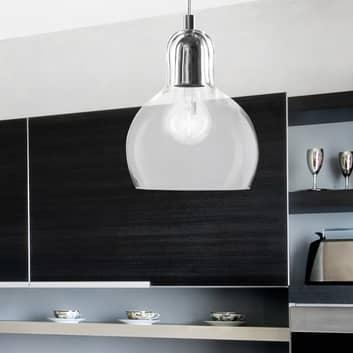 Lámpara colgante Mango, transparente/plata