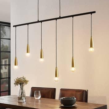 Lucande Maliet hanglamp, 6-lamps