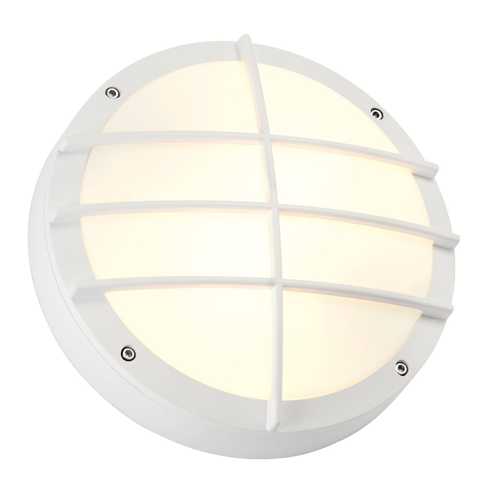 SLV Bulan Grid Außenwandleuchte in Weiß