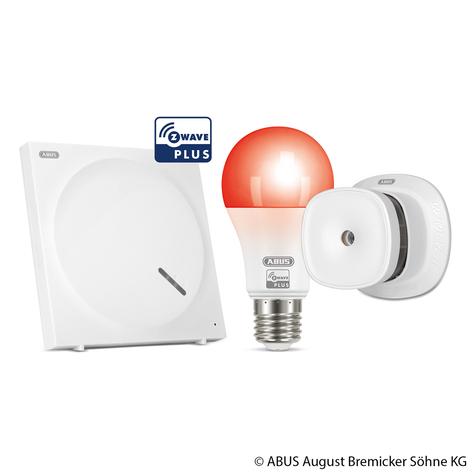ABUS Z-Wave Brandschutz-Set mit Rauchmelder, Lampe