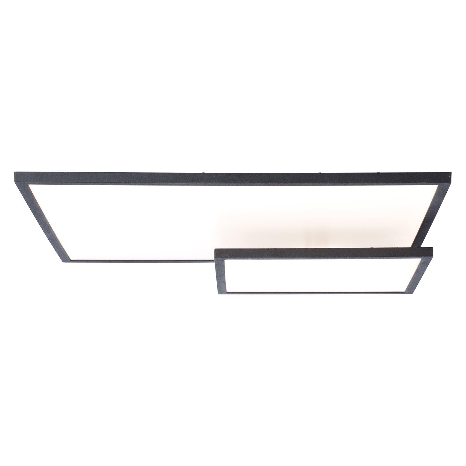 Plafonnier LED Bility, rectangulaire, cadre noir