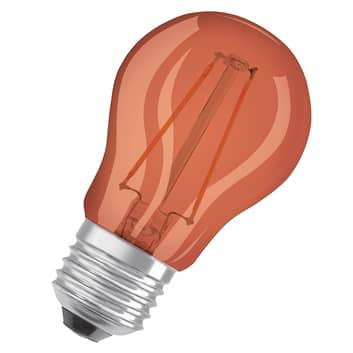 OSRAM LED-lampa E27 droppe Star Décor 1,6W orange