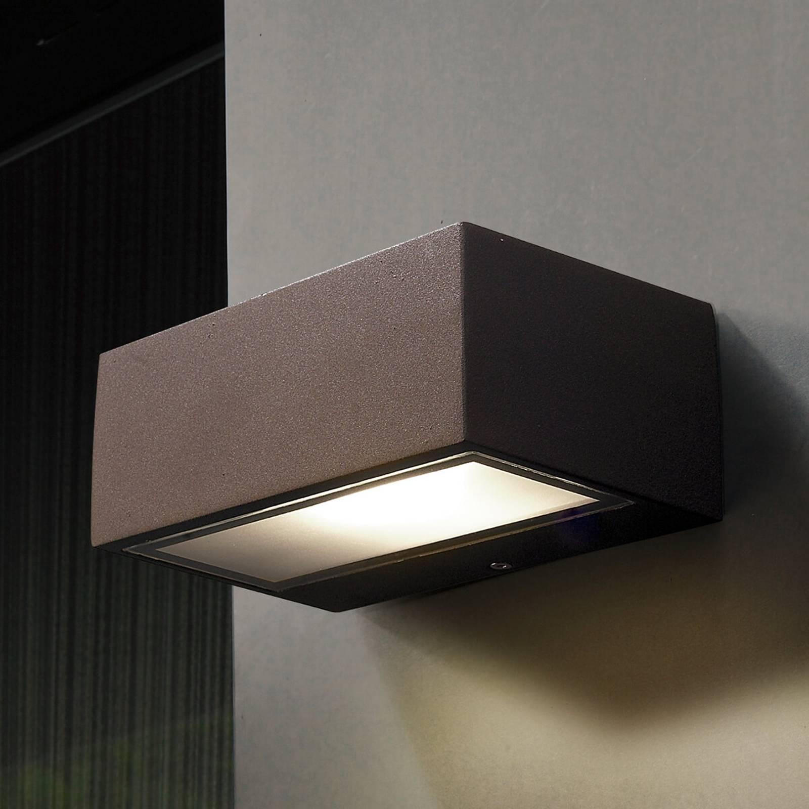 LED-buitenwandlamp Nemesis, bruin