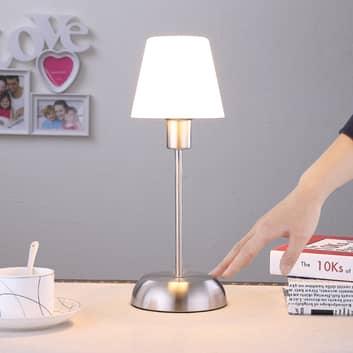Gregor - lampe à poser avec abat-jour en verre
