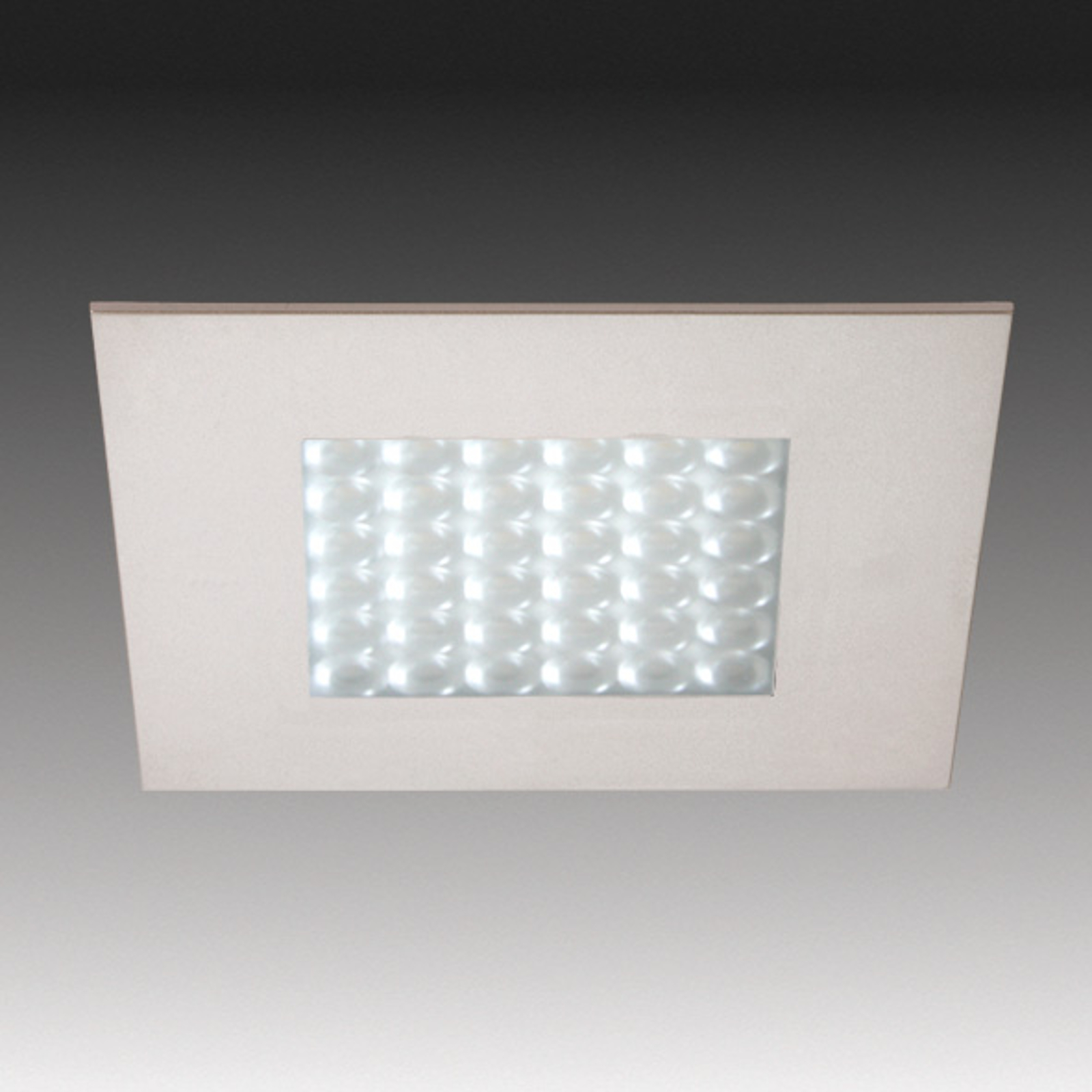 Q 68-LED Einbauleuchte in Edelstahloptik
