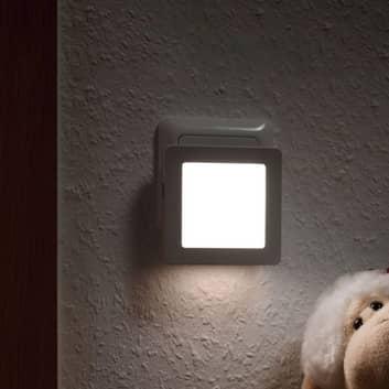 Paulmann Esby LED-nattlampa, eluttag, kantig