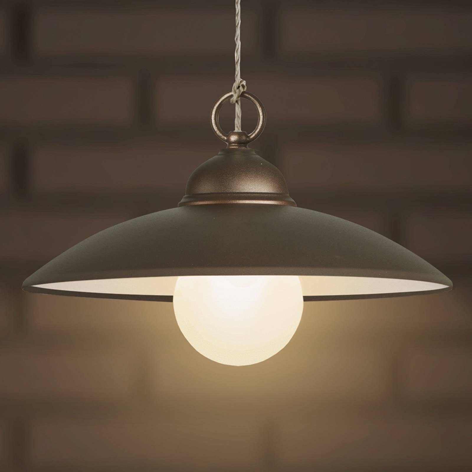Eenvoudige hanglamp Baja koffiebruin