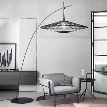 Forestier Carpa lámpara de pie, negro, alto 200 cm