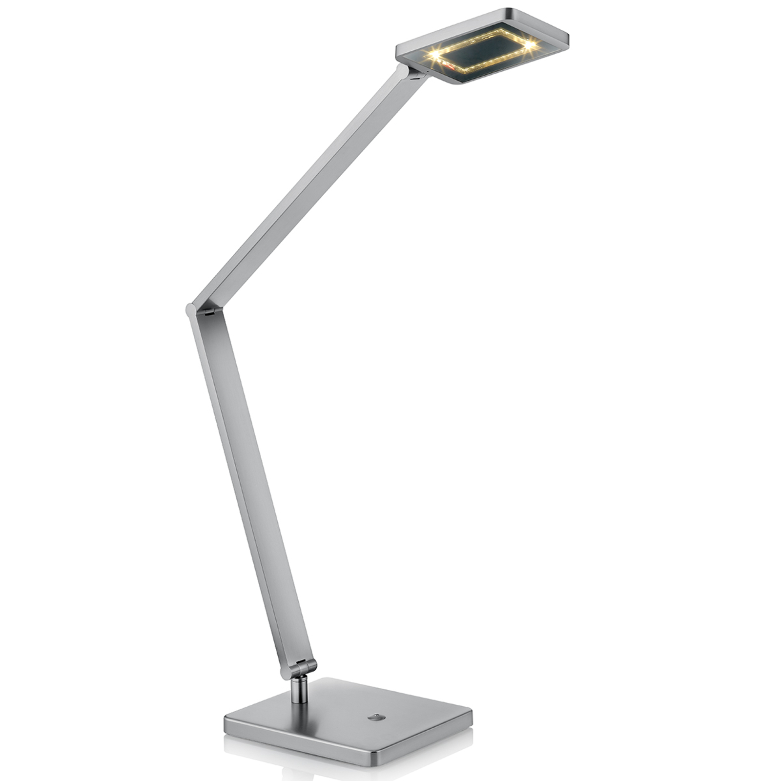 LED-Tischleuchte Space mit Touchdimmer nickel matt