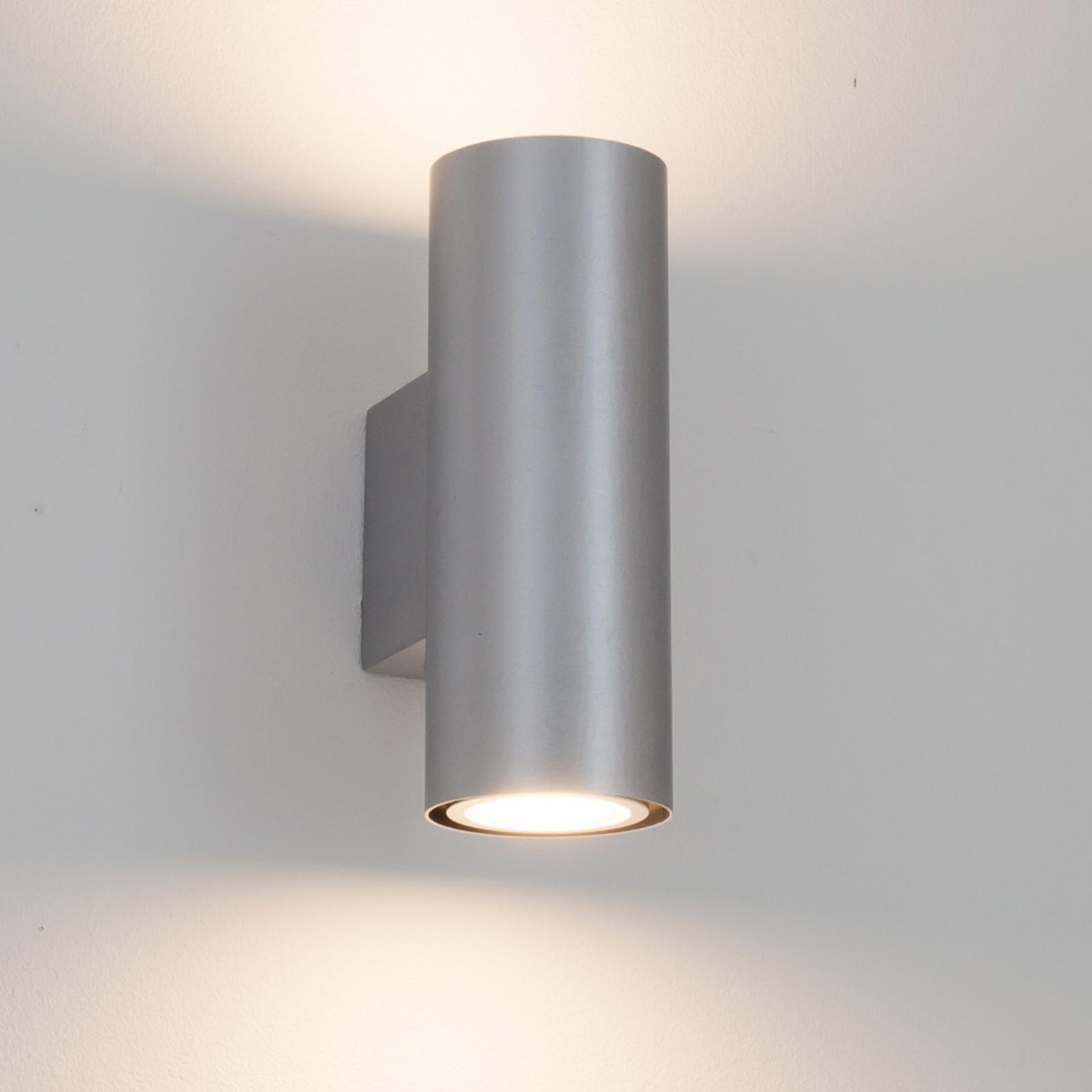 Zilver geborstelde wandlamp Kabir