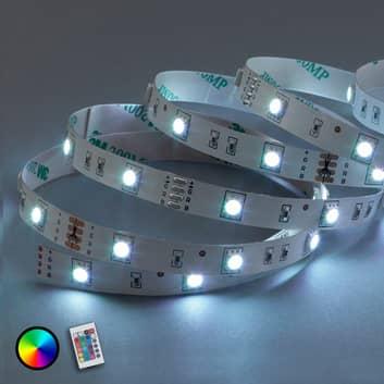 5 m RGB-LED-stripe Mea med IR-fjernkontroll