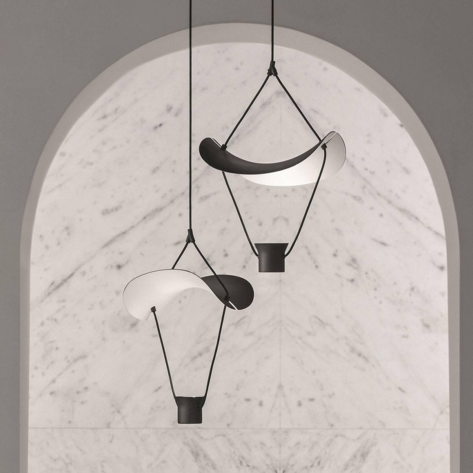 LED-Hängeleuchte Vollee S1 P, 44cm, Up, schwarz