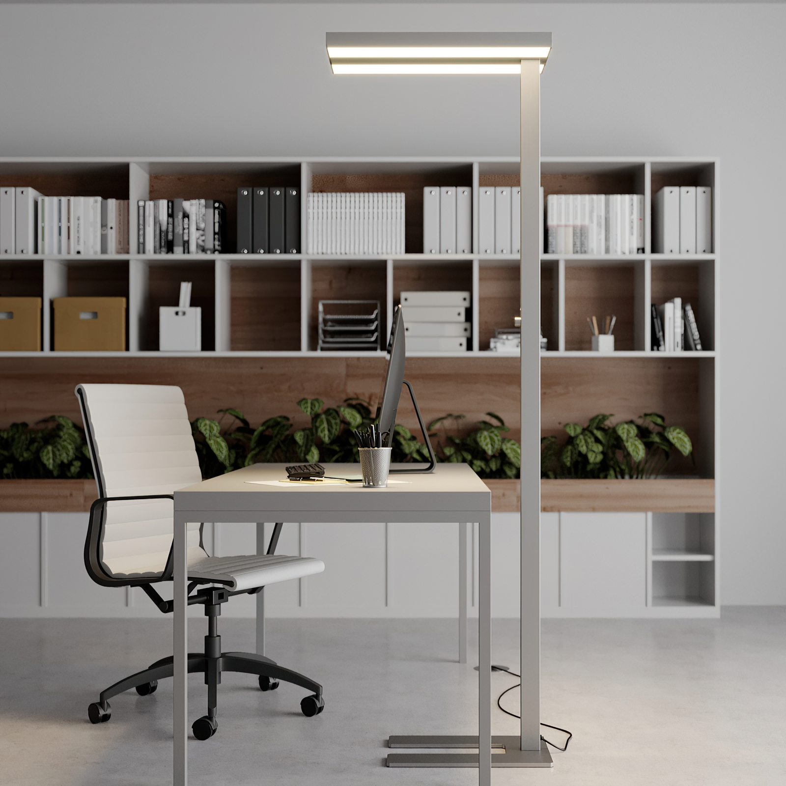 Dimmbare LED-Office-Stehleuchte Logan, 4.000 K