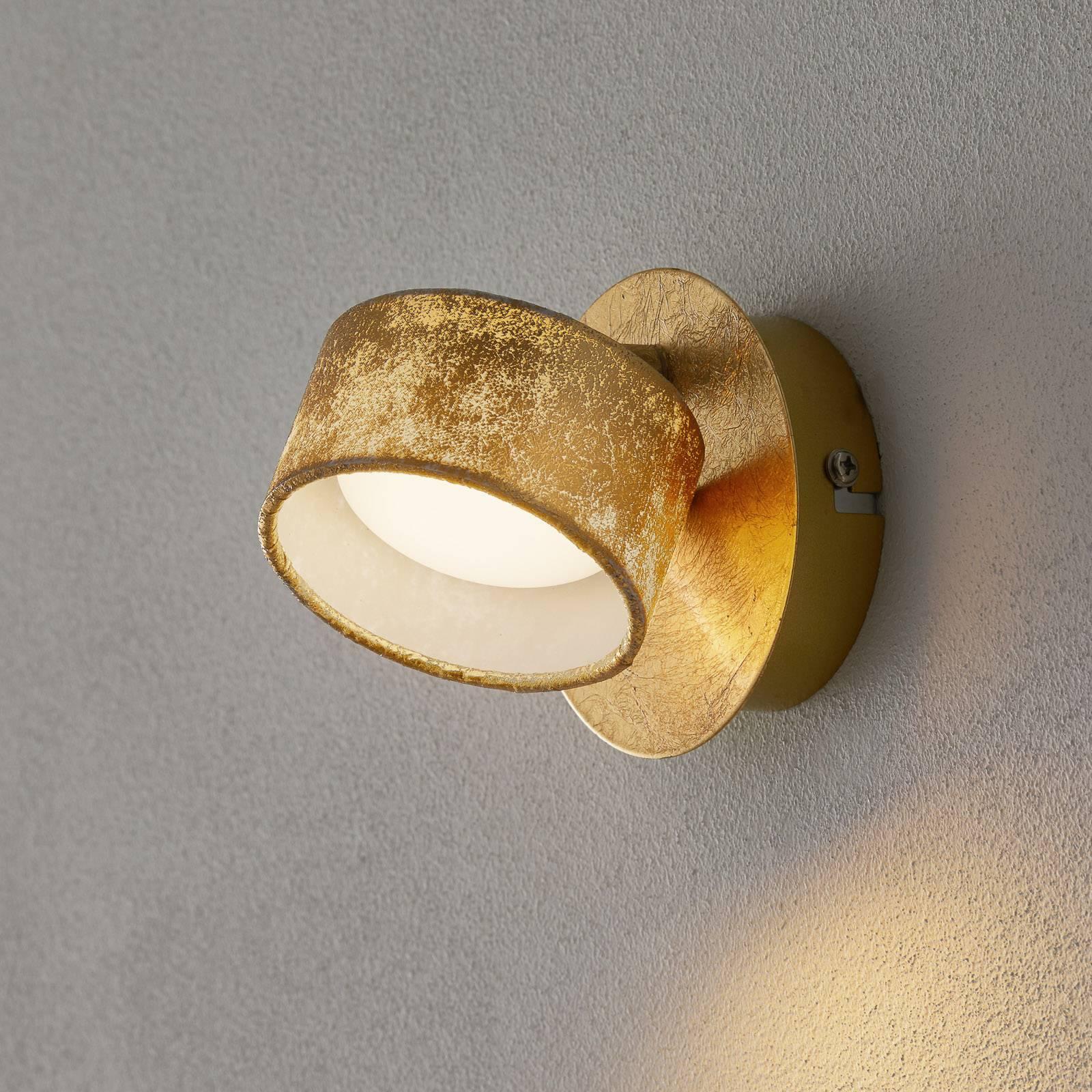 Reflektor ścienny LED Anna w kolorze złotym
