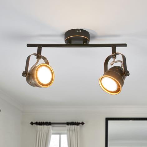 GU10-LED-Deckenleuchte Leonor, schwarz und golden