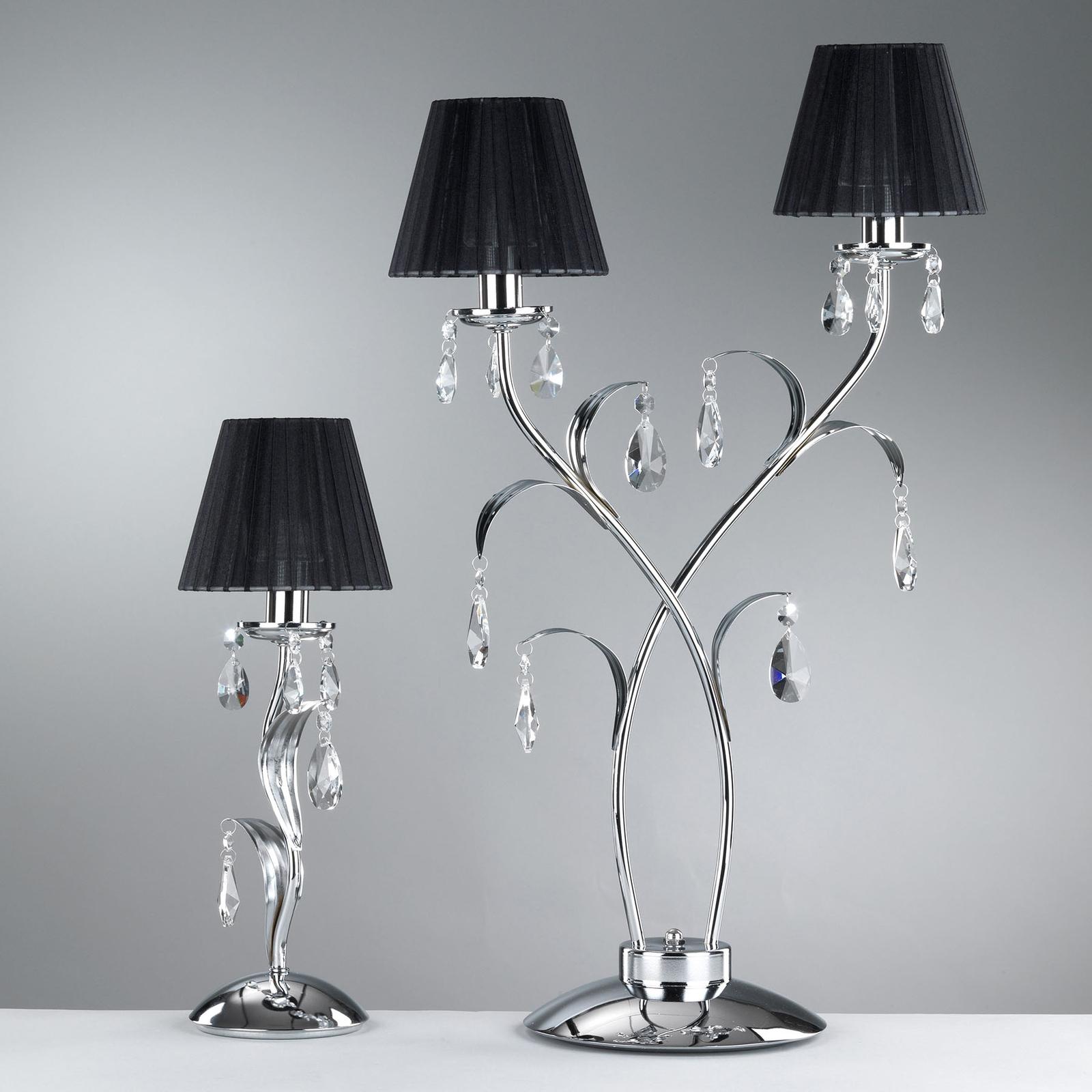 Lampe à poser Jacqueline, à 2 lampes, noire
