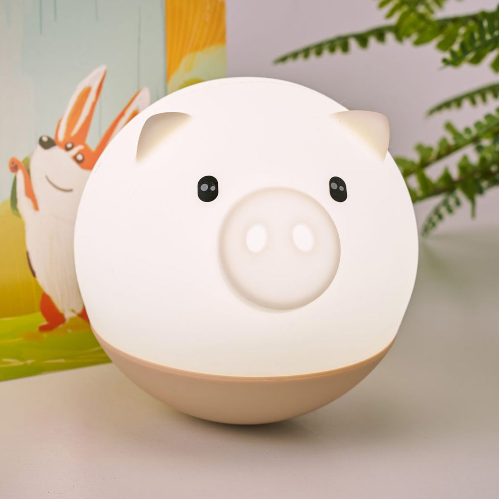 Pauleen Good Night Pig lampka nocna LED ściemniana