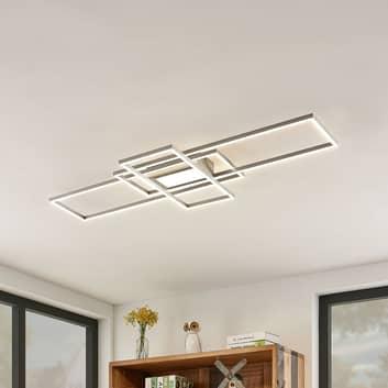 Lindby Mairin LED plafondlamp, nikkel mat