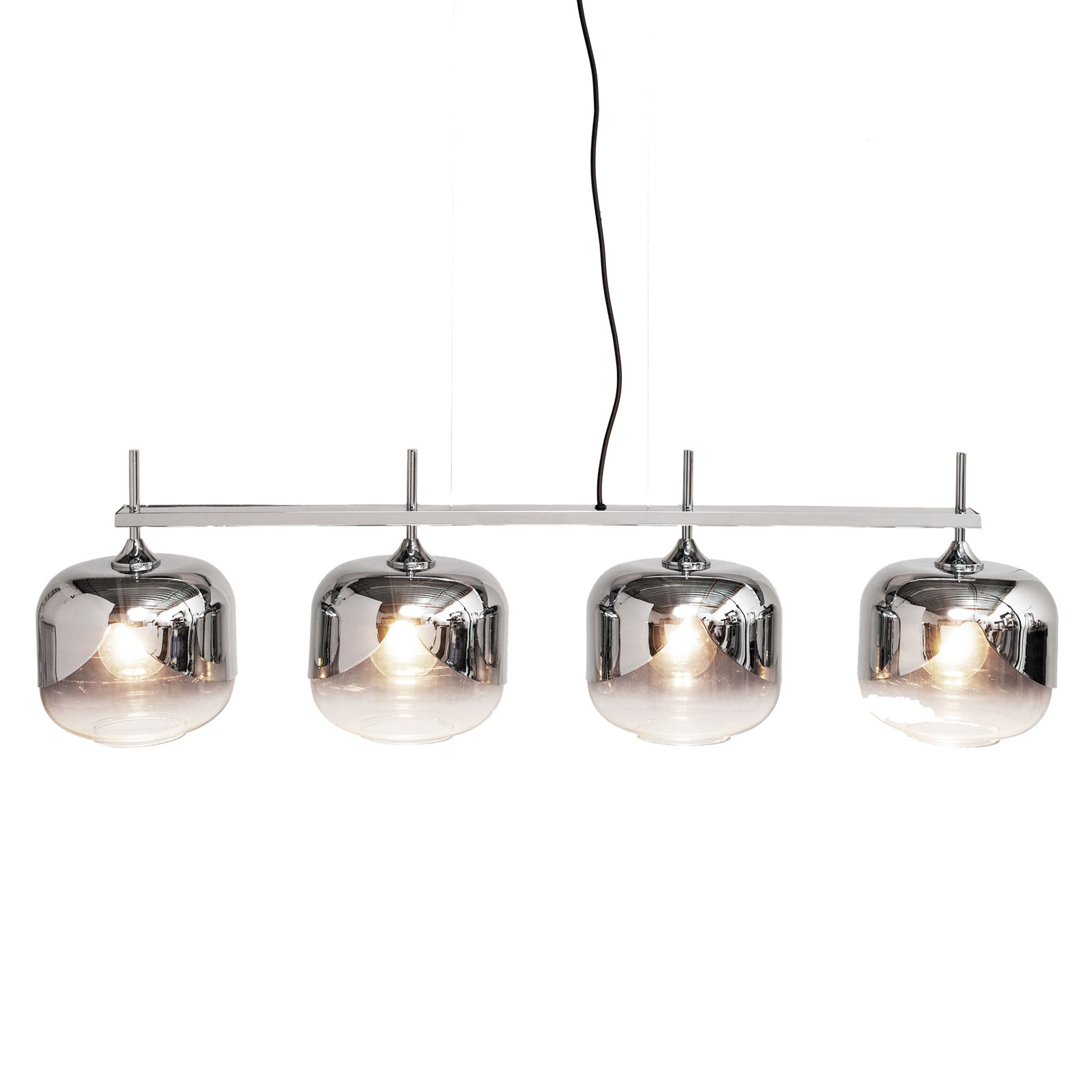 KARE Chroom Goblet Quattro hanglamp, 4-lamps
