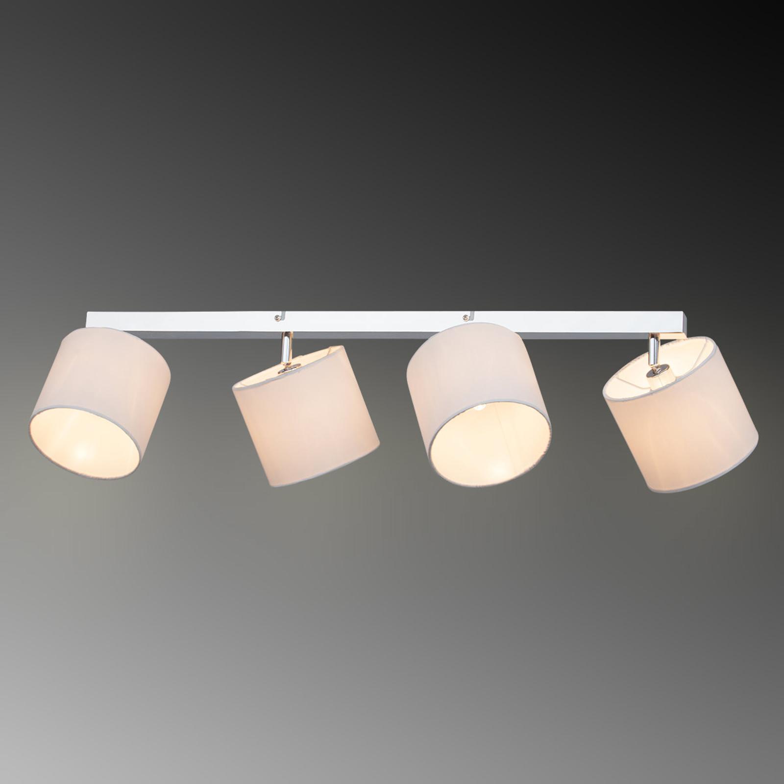 Plafonnier Sandra à 4 lampes abat-jour textile