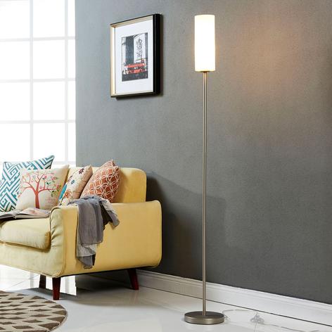 Dezente Stehlampe Vinsta mit schmalem Glasschirm