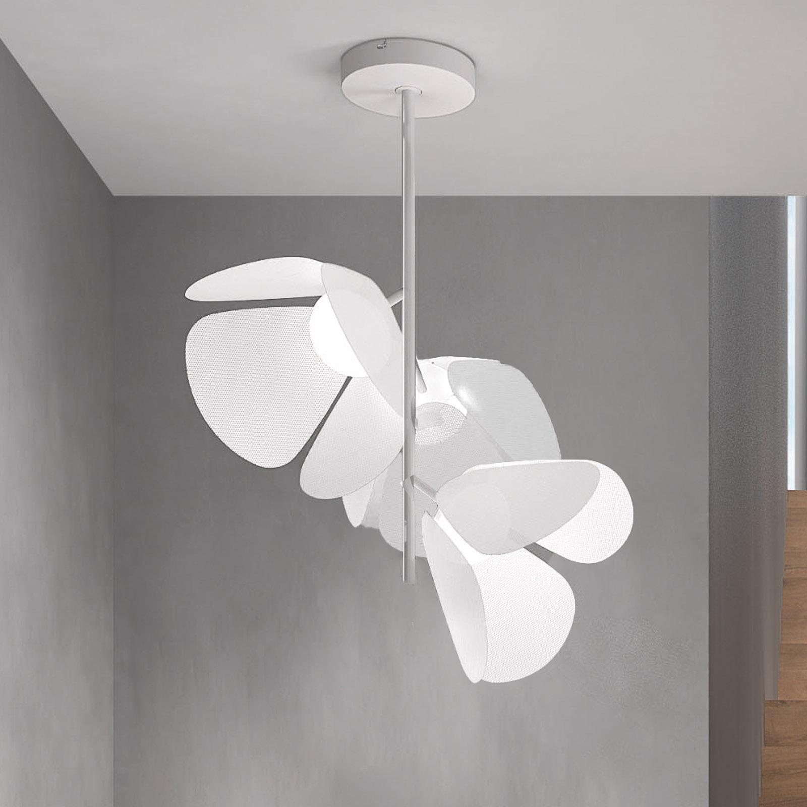 Bover Mod PF/73/3L LED-loftlampe, hvid