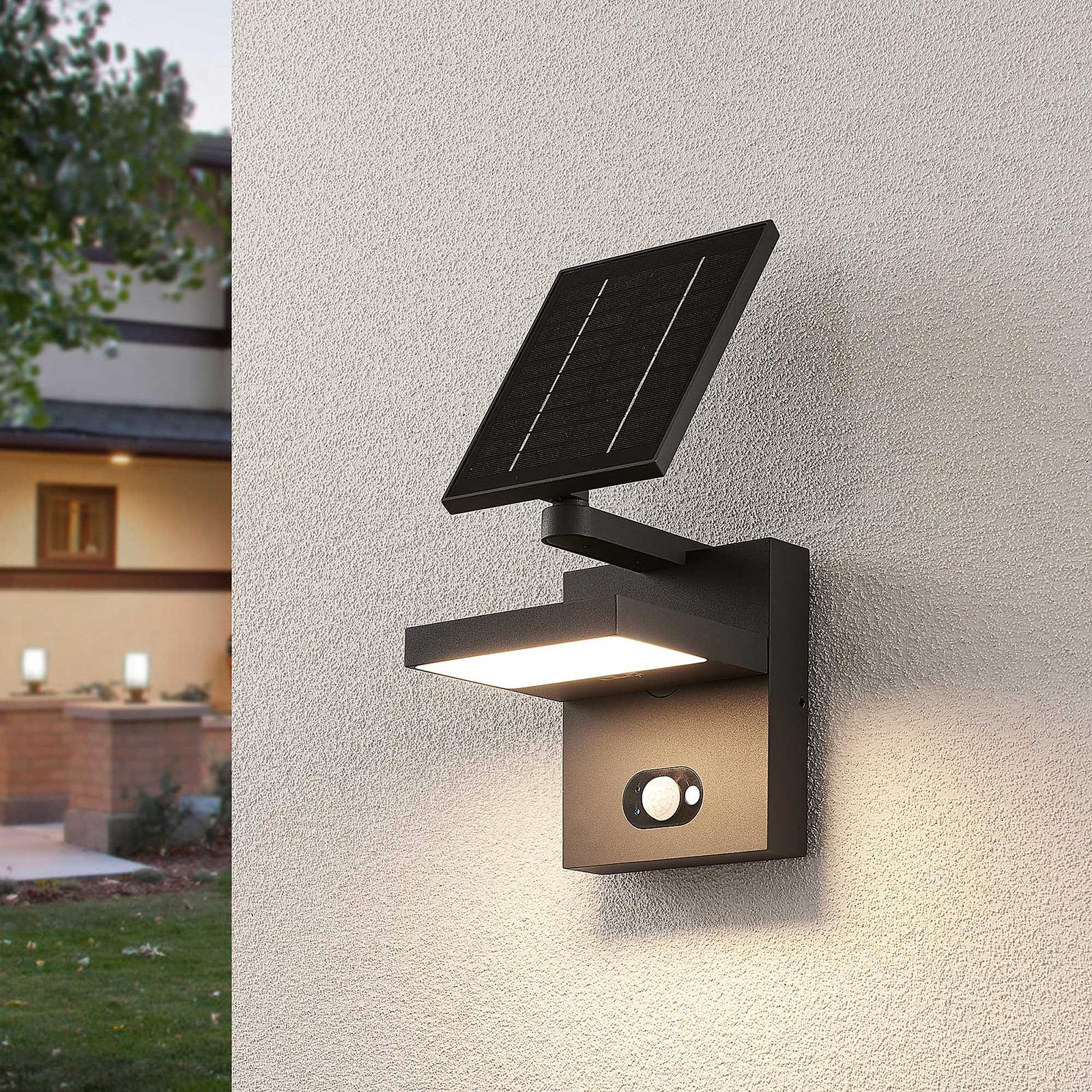 Solarny kinkiet zewnętrzny LED Silvan, czujnik